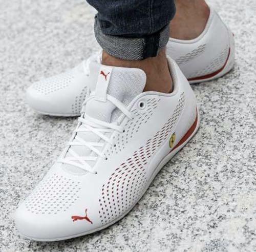 puma ferrari white shoes