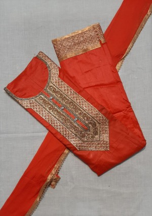 Riya Chanderi Handwork Dress Materials- Showroom Quality