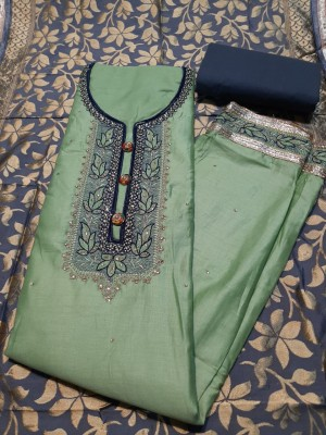 Beauty Satin Print Dupatta Salwar Suit- Showroom Quality
