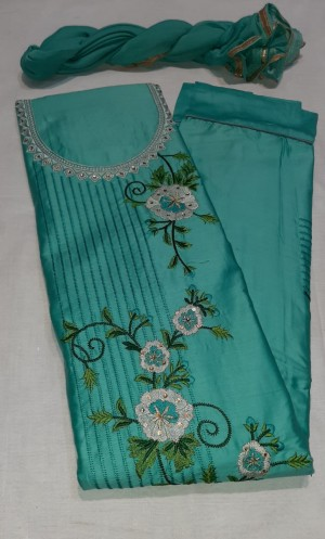 Sameera Trending Jaam Satin Suit-Showroom Quality