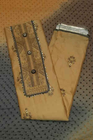 Moni Rich Jaam Satin Dress Materials- Showroom Quality