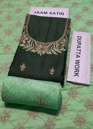 Jahira Jaam Satin Dupatta and Salwar Work- Designer Suit