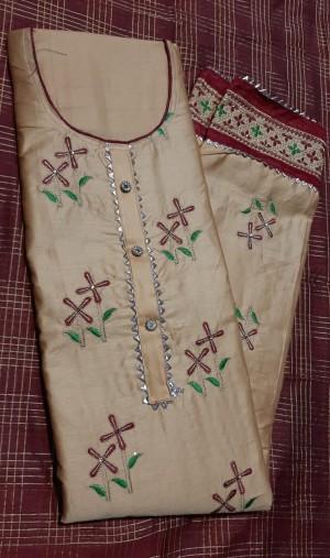 Shivi Jaam Satin Dress Materials- Showroom Quality