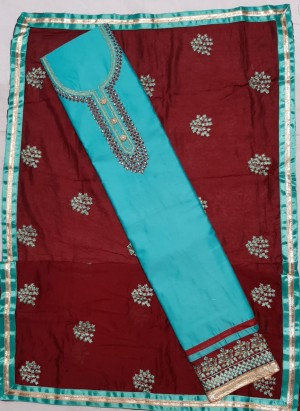 Lovebird Fabulous Jaam  Cotton Dupatta Work- Showroom Quality