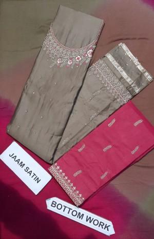 Aruni Pretty Salwar Work Jaam Cotton Suit- Designer Dress