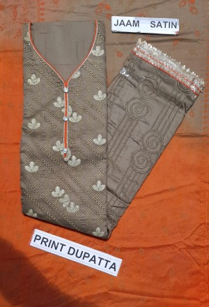 Myra Attractive Print Dupatta Salwar Suit- Showroom Quality