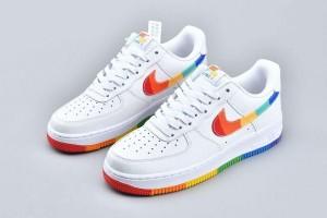 NikeAirforce 1 Low 07 Rainbow Swoosh Sole Custom