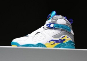 Nike Air Jordan 8 White Aqua