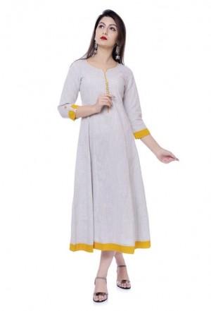 Women s Solid Cotton Kurti