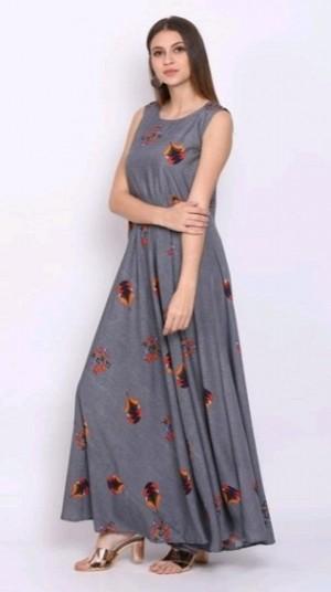 Women s Crepe Printed Maxi Dress