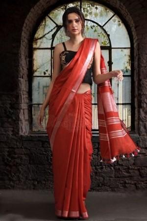 Attractive Cotton Zari Women s Saree