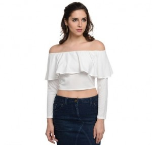 Stylish Polyester Crop Top