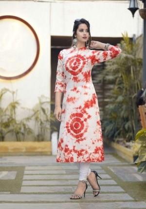 Elegant Cotton Shibori Print Straight Kurti