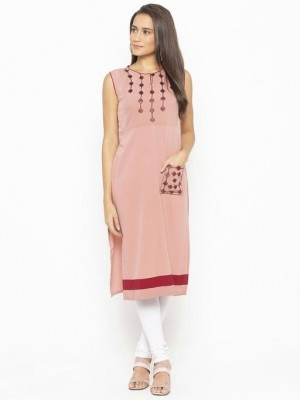 Women s Embroidered Polyester Kurti